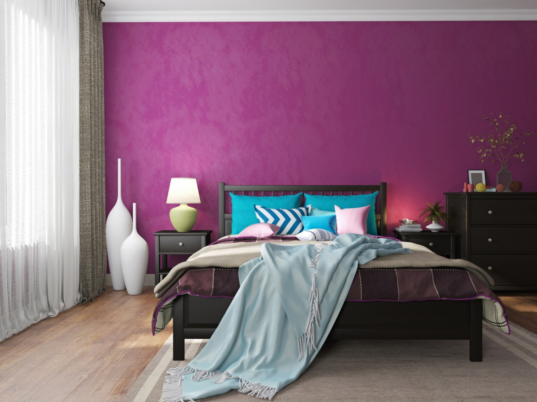 modern interior in hotel bedroom furniture
